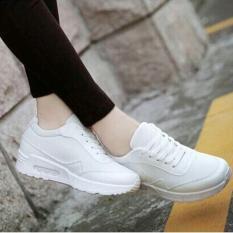 Giày sneaker nữ độn đế Air (trắng).