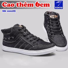 Giày Tăng Chiều Cao Nam 6cm Vải Jean TINTO 2002DE