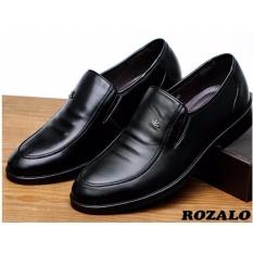 Giày tây da nam kiểu xỏ Zani ZM52203B - Đen