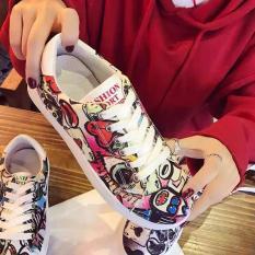 Giày thể thao họa tiết rằn ri Gokichi 6060 (Đỏ)