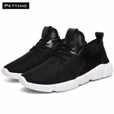 Giày Thời Trang Nam Cao Cấp - Pettino GT08 (đen) - Đế Siêu Nhẹ Đứng Đầu Xu Thế