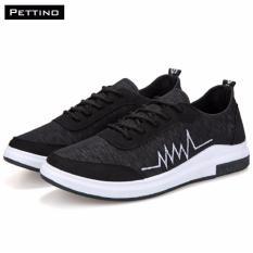 Giày Vải Sneakers - Pettino GV03 (đen) - Vải Cao Cấp Kiểu Dáng Thời Trang
