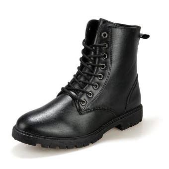 Mens Cowboy Boots Fashion Biker Boots Gentleman Shoes - intl