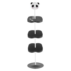 New Kid Children Cartoon Animal Pattern Shoe Rack Holder Stand Storage Organizer (Black Panda) - intl