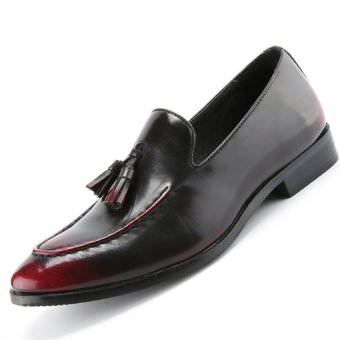 PINSV Mens Tassel Formal Shoes Loafers Business Shoes (Brown) -intl
