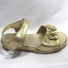 Sandal bé gái màu nhũ vàng