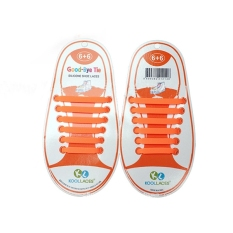 Set of 12pcs Children No Tie Silicone Elastic Shoelace Sneaker Shoe Laces (Orange) - Intl