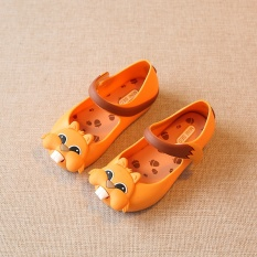 Squirrel new jelly in the big sunglasses Jelly shoes Girls sandals kids shoes (Yellow) - intl