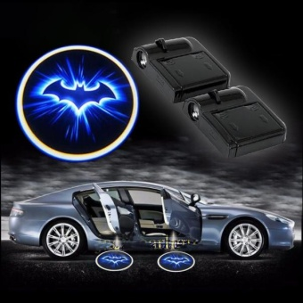 2017 1X Welcome LED Car Door Wireless Car Bat Door Light Batman LED Logo - intl