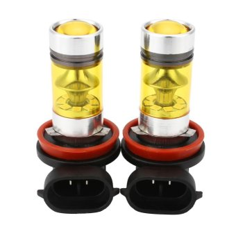 2Pcs Car Vehicle H8 H11 4300K Yellow LED Fog Driving DRL Light LampBulbs - intl