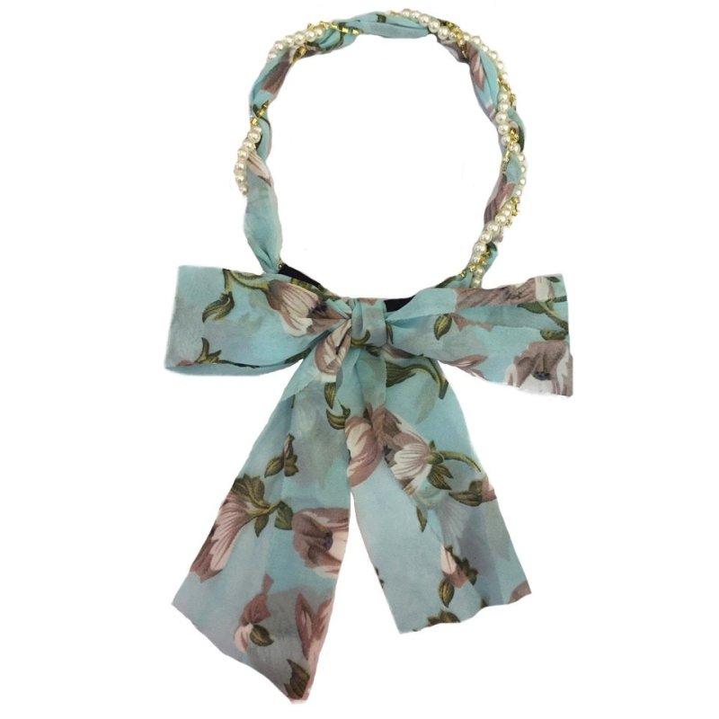 Băng đô ngọc trai nối vải Chiclala Accessories