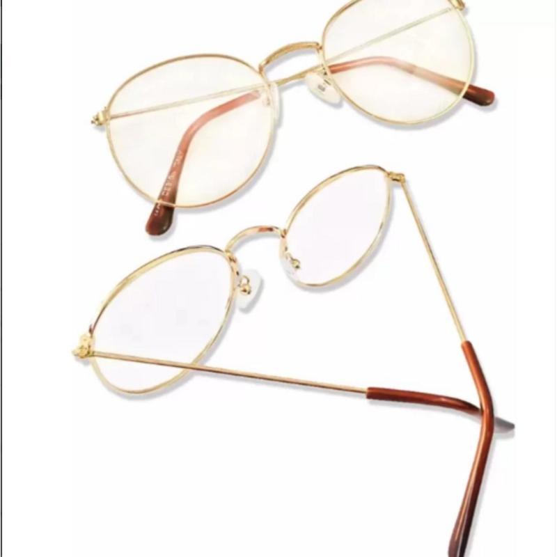 Mua Bộ Đôi Mắt kính ngố gọng cận  không độ Nobita nam-nữ thời trang mới KZY (Vàng)