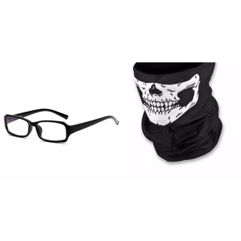 Mua Bộ kính giả cận và khăn phượt đa năng đen