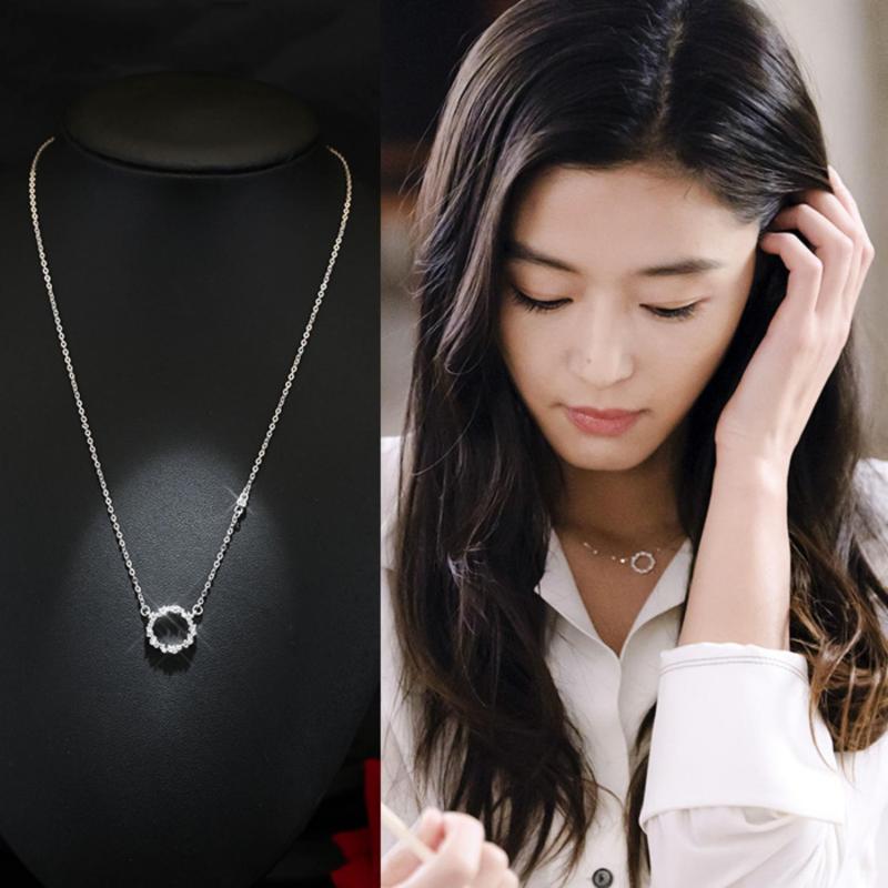 Bộ trang sức Bông Tai và Dây Chuyền HUYỀN THOẠI BIỂN XANH bạc 925 Hàn Quốc