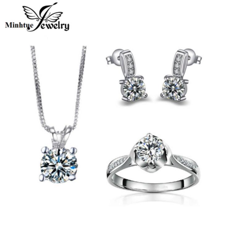 Bộ trang sức cao cấp hợp kim, bạc 925 xi bạch kim