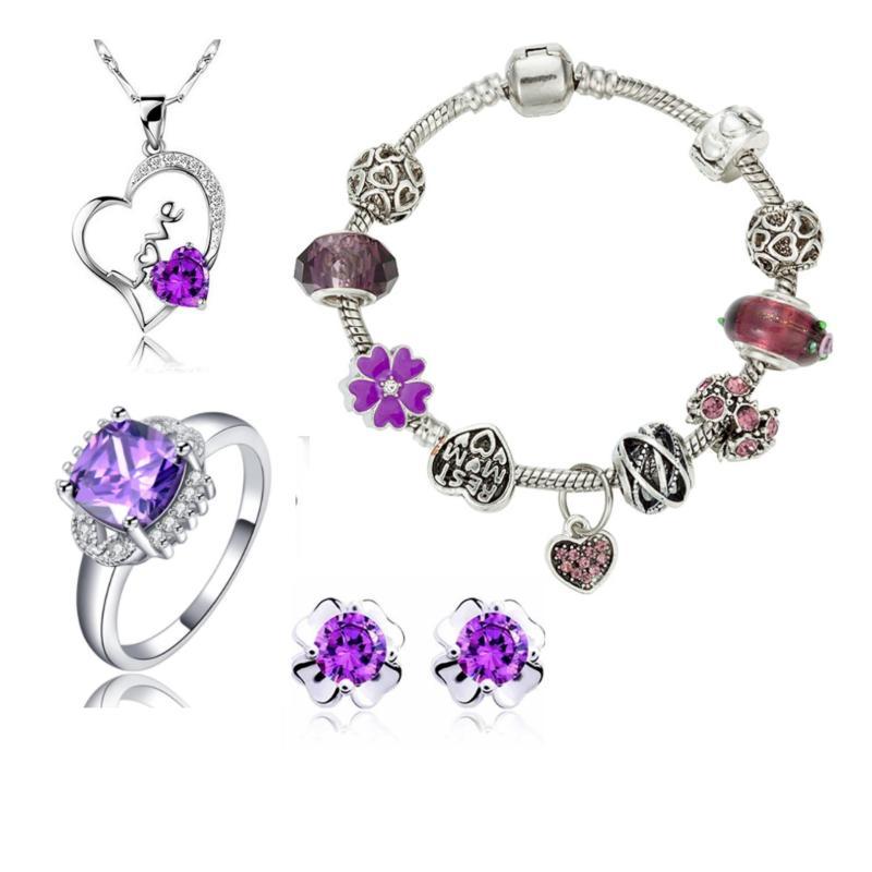 Bộ trang sức vòng tay charm tình yêu svp260