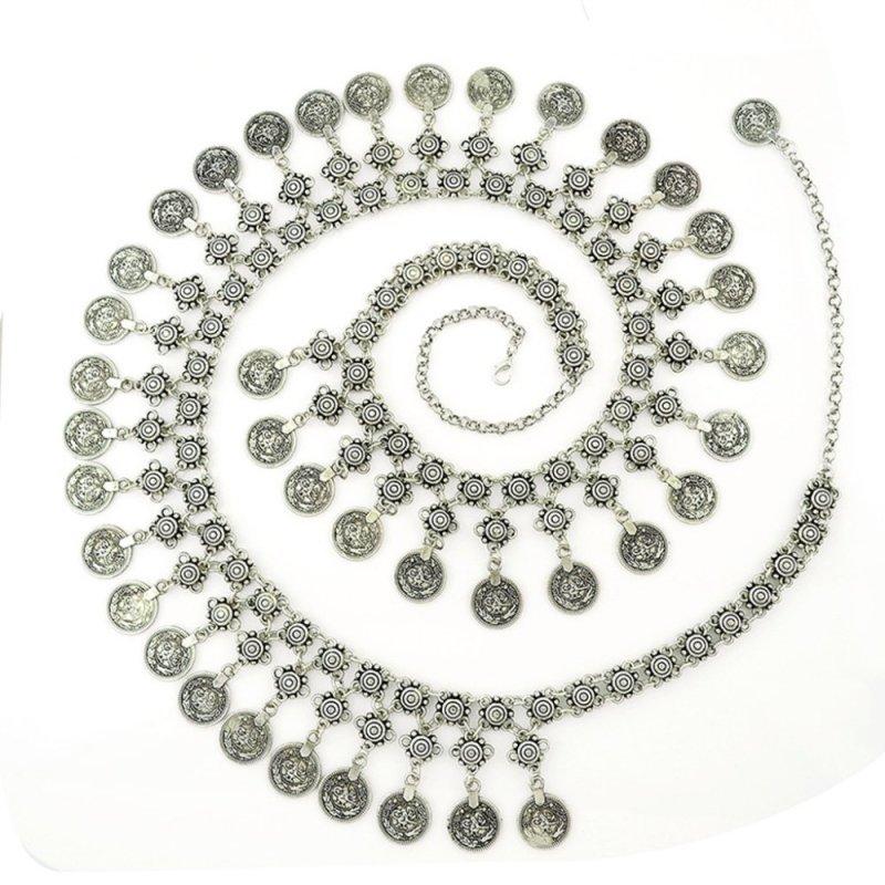 Bohemia Gypsy Waist Body Chain Boho Drop Coins Hippie Belt Belly Jewelry - intl