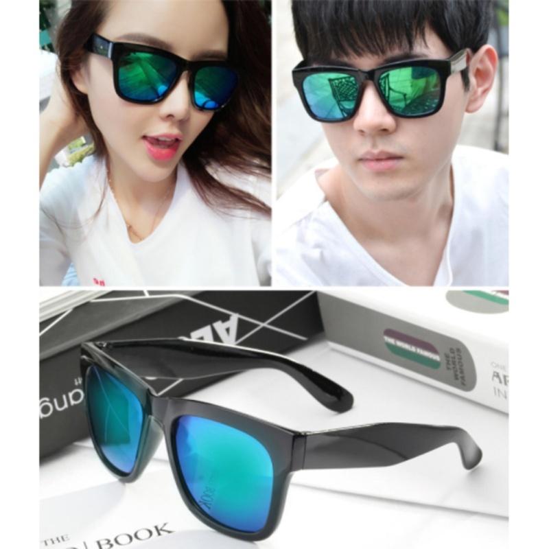 Giá bán Combo 2 kính mát thời trang nam nữ sành điệu mắt tráng gương (Xanh)