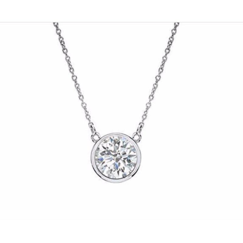 Dây chuyền bạc nữ đẹp/dây chuyền bạc cao câp/ dây chuyền giá rẻ/ dây chuyền bạc cao cấp/ trang sức dây chuyền đẹp/Dây chuyền bạc nữ đẹp một hột đá Gix Jewelry SPN-0026 (Trắng)