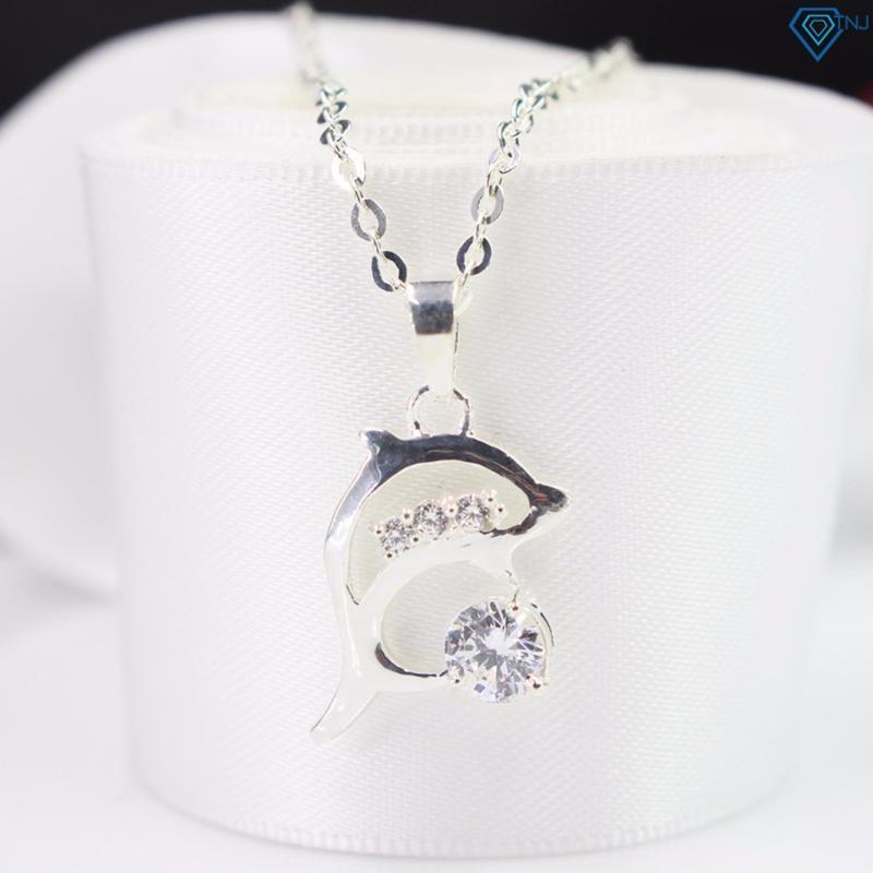Dây chuyền bạc nữ mặt cá heo DCN0256