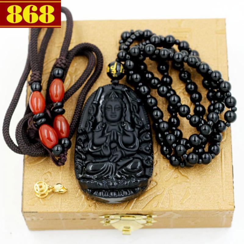 Dây chuyền Thiên Thủ Thiên Nhãn bồ tát 6cm + 2 dây, móc mạ vàng, hộp gỗ