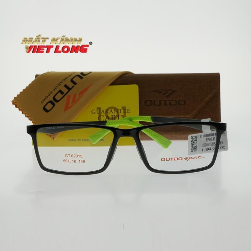 Giá bán Gọng kính Outdo GT62015-C25 56-16 (Gọng nhựa màu đen, càng đen pha xanh)