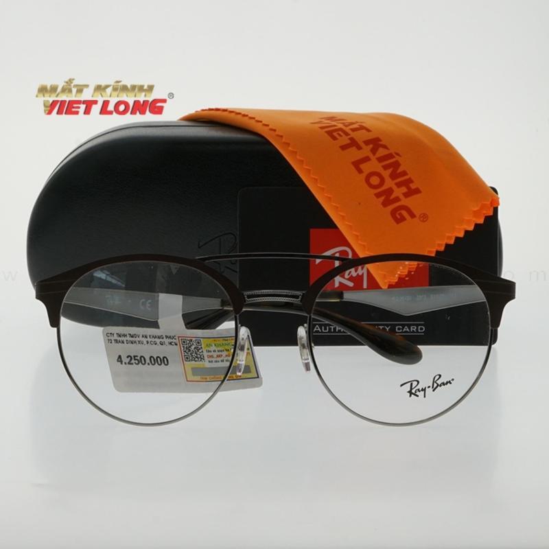 Giá bán Gọng kính Rayban RB3545V-2912 51-20 ( Gọng khung kim loại màu nâu pha bạc)