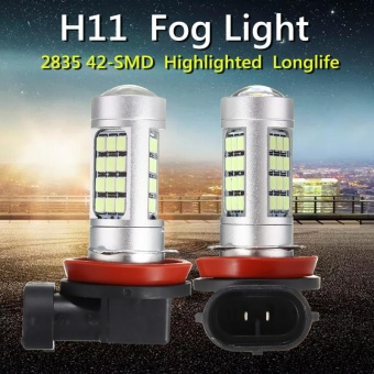 H11 42 SMD 100W Samsung 2323 LED 8000K Ice Blue rojector Fog Light Bulbs - intl