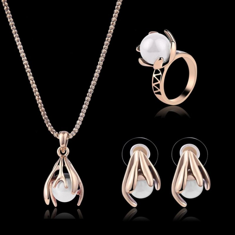 Imixlot Necklace Earrings Set Fashion Jewellery Women Wedding Jewelry Sets Lady Party Banquet Accessories - intl
