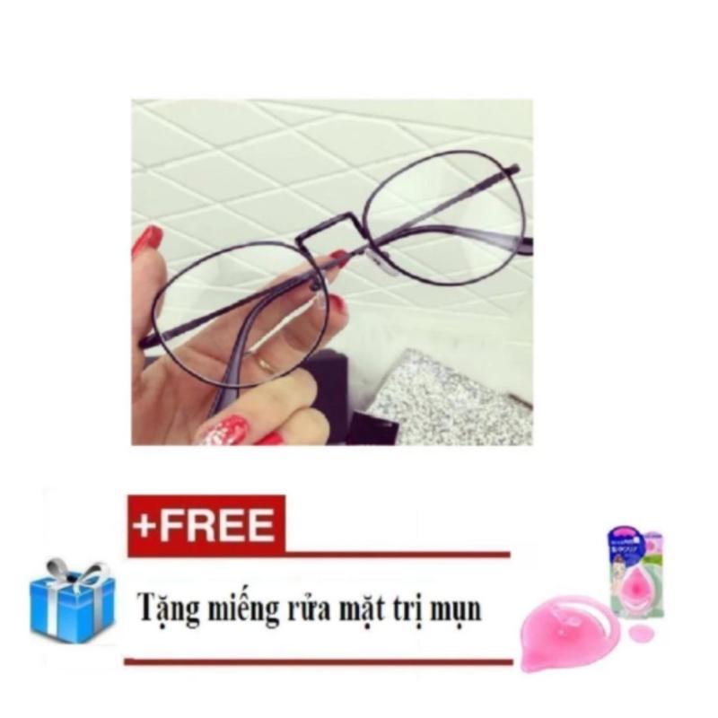 Giá bán Kính Gọng cận Nobita không độ Hth+ Tặng miếng rửa mặt massage trị mụn đầu đen