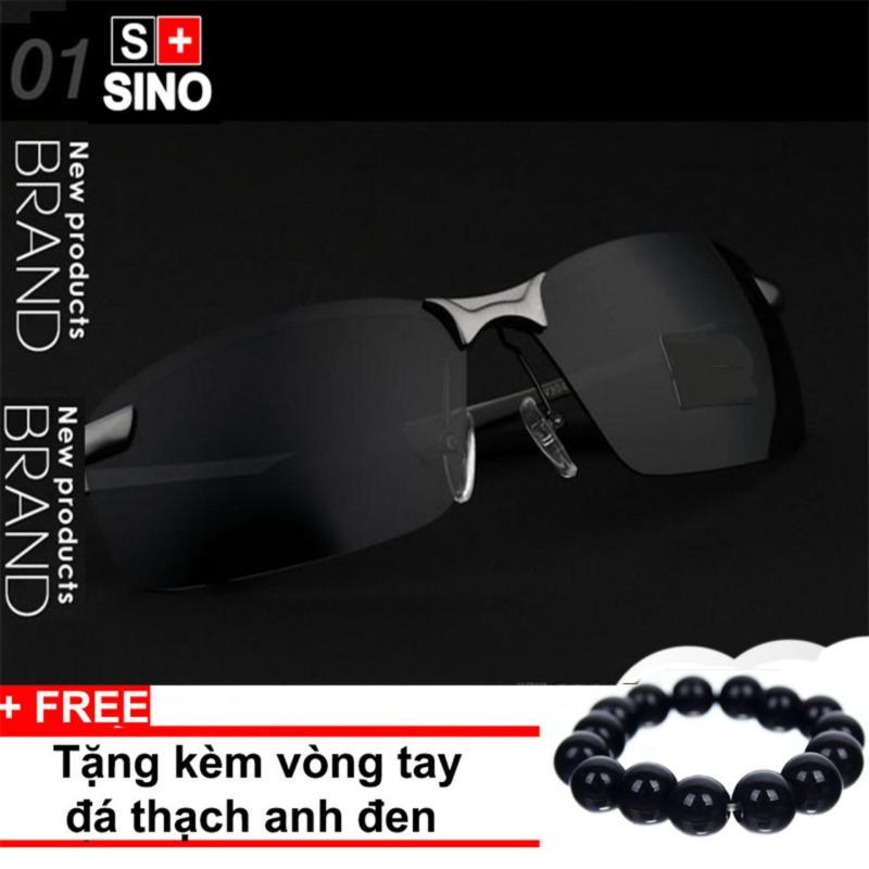 Mua Kính mát nam thời trang Sino SN986+ Tặng kèm vòng tay thạch anh đen