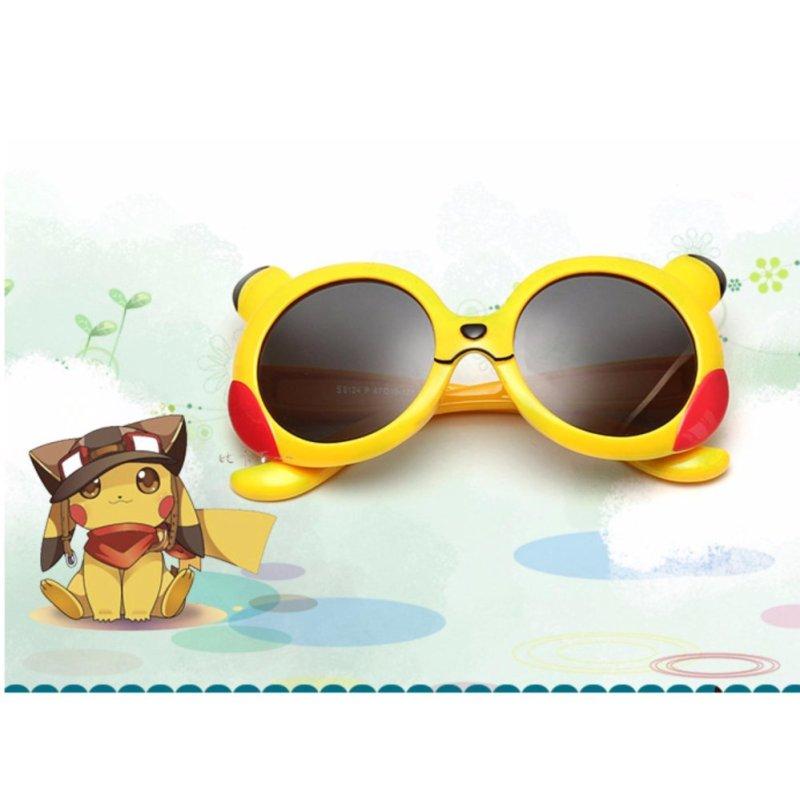 Giá bán Kính mát thời trang Hàn Quốc chống tia UV bảo vệ mắt bé + Tặng bao da cao cấp F175 (Vàng)