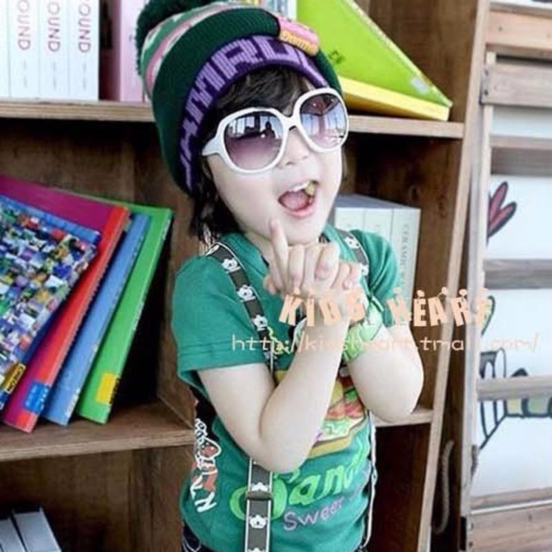 Mua Kính mát trẻ em phong cách Hàn Quốc 2017 + tặng bao da K3-2