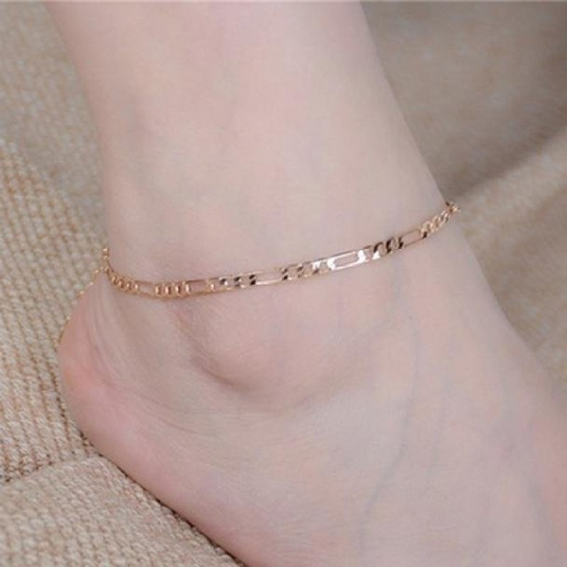Lady Simple Fashion Gold Anklet Metal Chain Anklets GD - intl