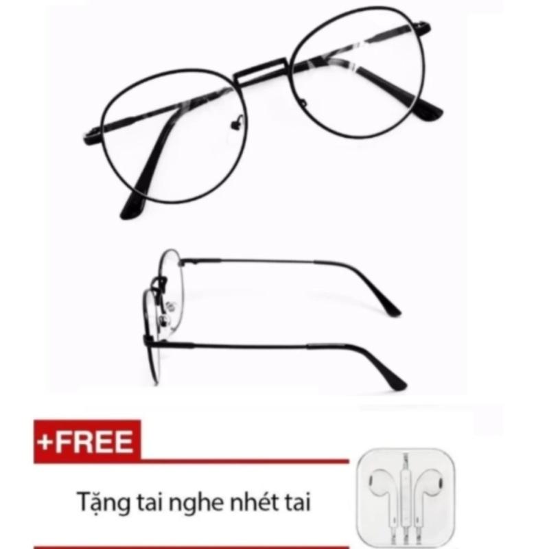 Giá bán Mắt kính ngố giả cận Nobita (đen) + Tặng kèm Tai nghe nhét tai