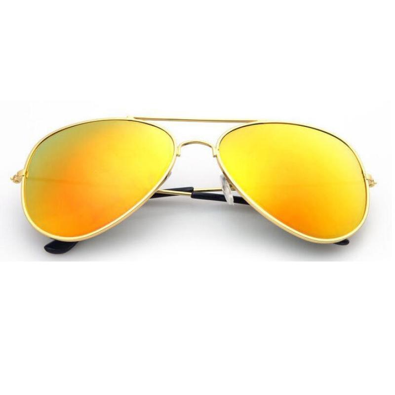 Giá bán Mắt kính tráng gương phản quang thời trang nam nữ TTP (Vàng đồng)