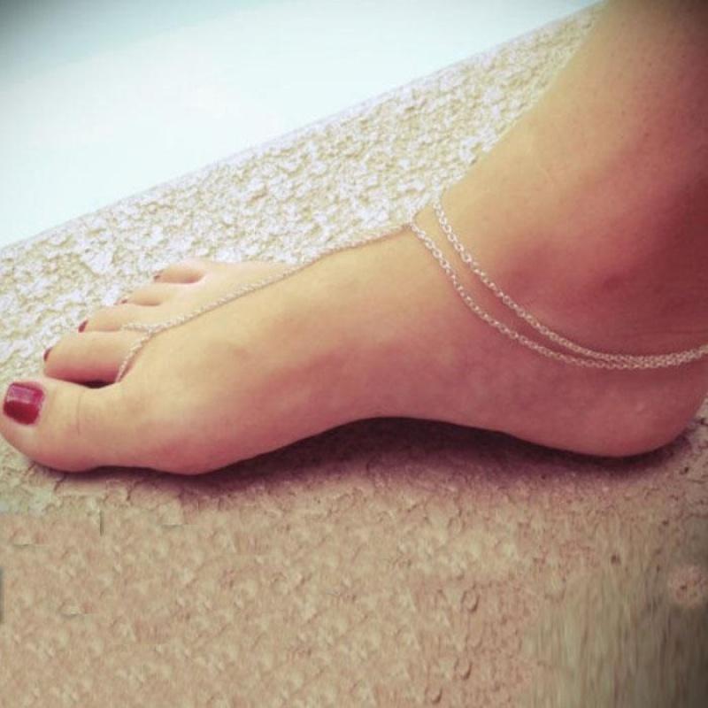 New Simple Beach Barefoot Toe Ankle Bracelet Chain Link Foot Jewelry SL - intl