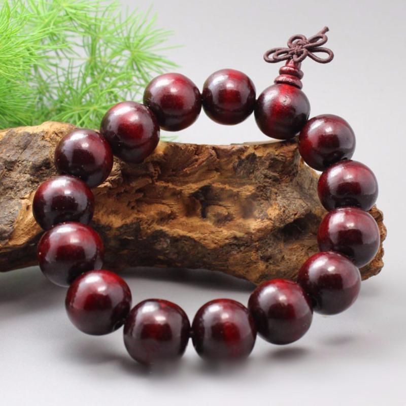 Vòng tay phong thủy gỗ đàn hương đỏ 15LY-15H