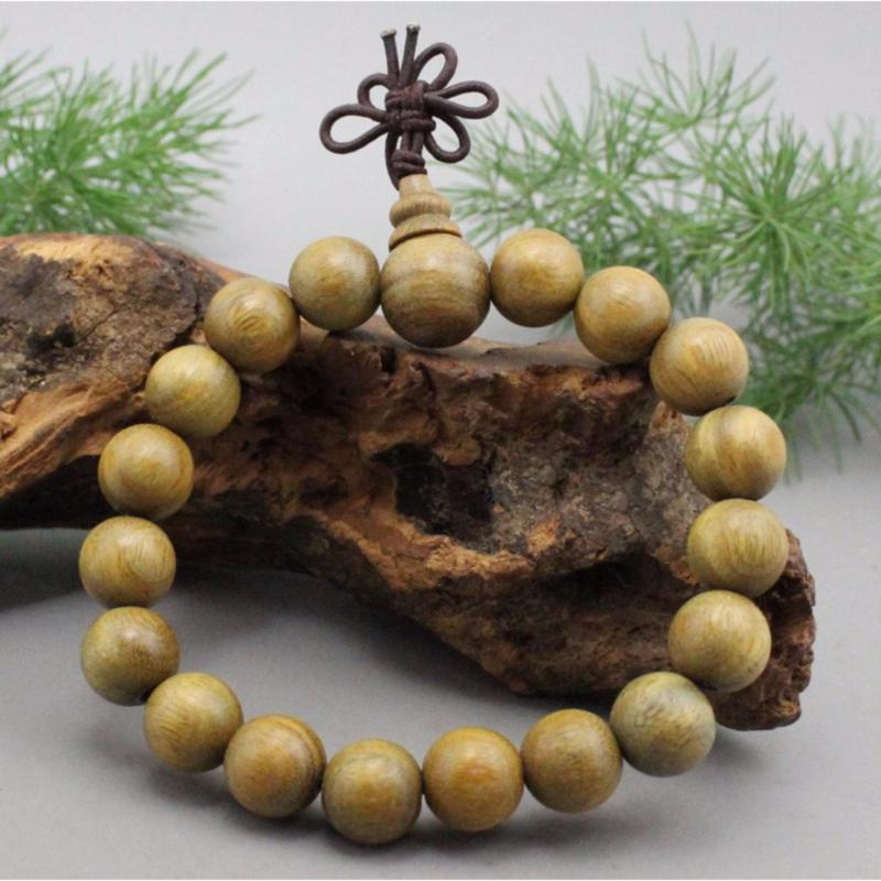 Vòng tay phong thủy gỗ đàn hương xanh 10LY-19H