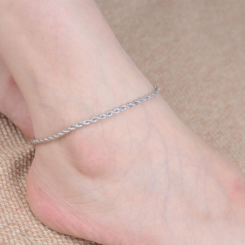 Women Beach Barefoot Sandal Foot Jewelry Anklet Chain - intl