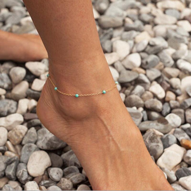 Women Girls Handmade Bead Chain Anklet Foot Leg Chain Bracelet Jewelry GD - intl