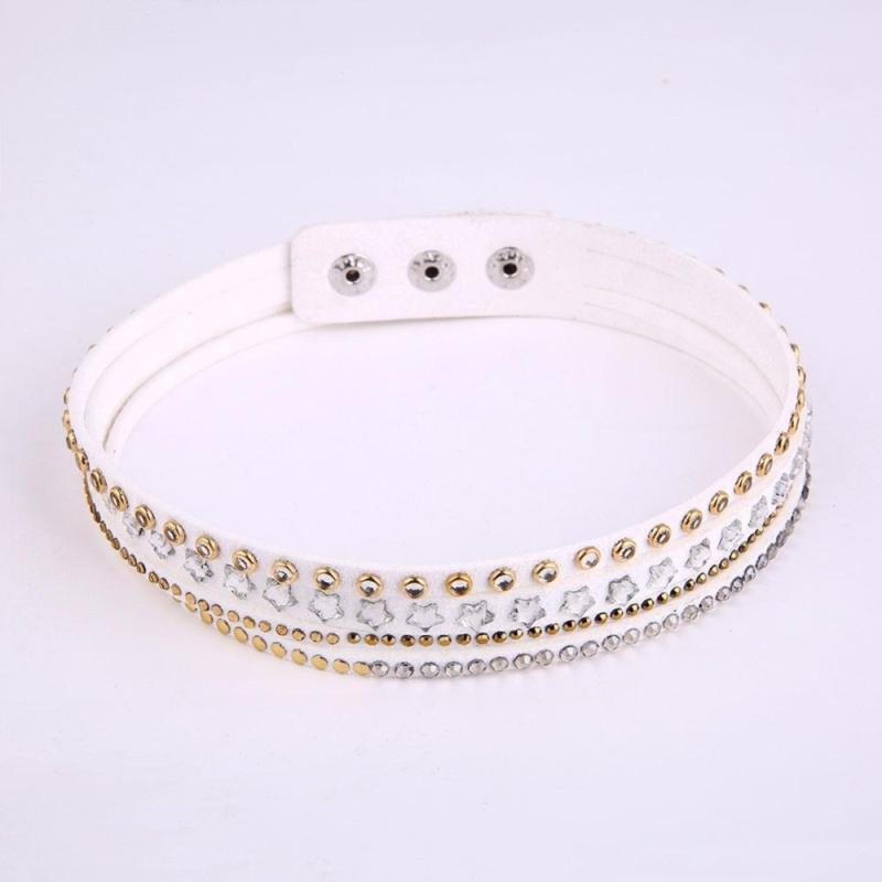 Women Rhinestone Stars Choker Necklaces Bracelet 2-in-1 - intl