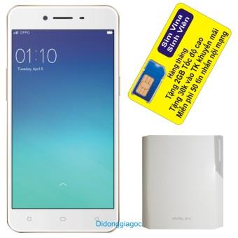 Bộ Oppo Neo 9 A37 16GB (Hồng) – Hãng Phân phối chính thức + Sạc dự phòng Arun 10.000 mAh + Sim Vina