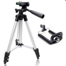 Chân máy ảnh + giá để điện thoại kéo cao 106cm