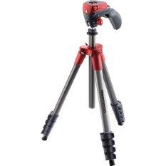 Chân máy ảnh Manfrotto Compact Action Aluminum Tripod (Đỏ)