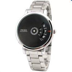 Đồng hồ nam dây thép không gỉ Wilon 938 (Đen)