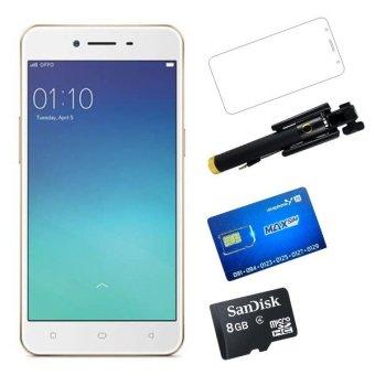 OPPO A37 Neo9 16GB 2 Sim (Vàng hồng) +Dán màn hình + Sim Vinaphone sinh viên + Thẻ nhớ + Gậy chụp hình - Hãng Phân phối chính thức