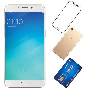 Oppo F1 Plus 64GB ( Vàng ) + 1 SIM 3G/nghe gọi Vinaphone + 1 Ốp lưng + 1 Miếng dán màn hình