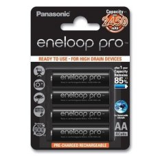 Pin AA Panasonic Eneloop 2450mAh loại 500 lần sạc (Đen)