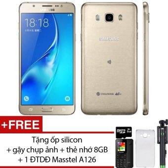 Samsung Galaxy J7 2016 16GB (Vàng đồng) - Hãng Phân phối chính thức + Tặng ốp lưng silicon + gậy chụp ảnh + thẻ nhớ 8GB + 1 ĐTDĐ Masstel A126